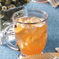 Lemonade Iced Tea.I have always loved iced tea with lemon and this great thirst-quencher just takes it one step further. The lemonade gives this refreshing drink a nice color, too. I dress up each glass with a piece of lemon on the side.—Gail Buss, Westminster, Maryland