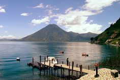 Lake Atitlan vista from Jaibalito by Lake Atitlan - Landed at this very spot