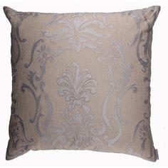 Lili Alessandra Louie European Pillow in Natural/Blue Linen @Demi Bredefeld Ryan #demiryanhome #homedesignboutique #design #shopping