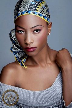 I like the make up and head wrap