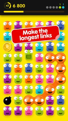 Link that Gugl Pro        iOS Universal Make the longest link! Looks simple but it's equally demanding in brain and reflexes!  A very touch friendly gameplay: make chains of the same color: the longer, the better!   A keen eye, lightning reflexes and tons of nerves needed to compete with the best!