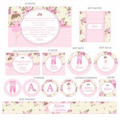 Kit digital para imprimir bailarina e sapatilha