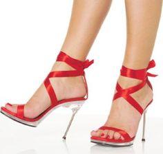 Buy Chic14pl, Sexy Women's Open Toe Stiletto Heel Platform Sandal with Leg Wrap