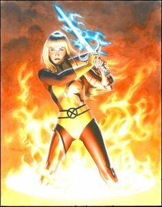 Magik (of the X-Men) Commisioned Painting by Mike Mayhew Comic Art Comic Book Artists, Comic Artist, Comic Books Art, Female Comic Characters, Marvel Comic Character, Character Art, Marvel Comics Art, Marvel Heroes, Magik Marvel