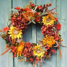 TISKET A TASKET Beautiful Fall Wreath with by FGiordanoDesigns