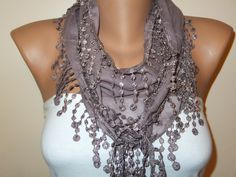 A personal favorite from my Etsy shop https://www.etsy.com/listing/179550699/mink-lace-scarf-brown-scarfwomens