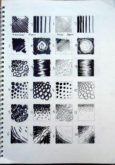 mark making: mark making Mark Making, Sketchbook Inspiration, Art Sketchbook, Zentangle, Art Sculpture, Elements Of Art, Drawing Techniques, Art Plastique, Teaching Art