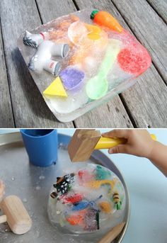 things to do with ice | Pinterest crafts for kids