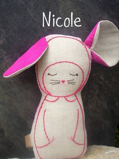 Linen Mouse  Nicole  Made to Order by leilalou on Etsy, $28.00