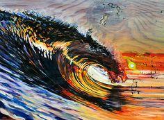 Surf art by Phil Goodrich