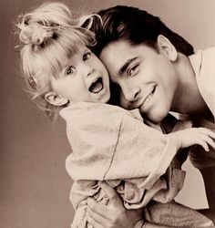 """This picture totally just made me cry because I was the """"Michelle"""" and my uncle Jimmy was my Uncle Jessie!!!!!"""