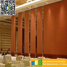 Decorative Wall Panel Sliding Movable Door Panel With Artificial Fabric For Office