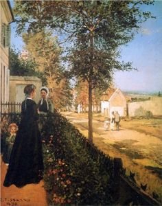 The Road of Versailles - Camille Pissarro ..............#GT