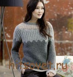 Пуловер женский спицами описание http://hitsovet.ru/pulover-zhenskij-spicami-opisanie/