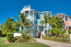 Beachbreeze, 130 50th St., Holmes Beach, Fl. 34217, Luxury 6 bedroom home West of Gulf Dr and just a short 1-2 minute stroll to the Gulf Beach!! The home location is one of the...