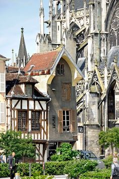 Cathedral and medieval houses in Troyes, Champagne-Ardenne, uncredited photo