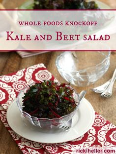 Whole Foods Knockoff Kale And Beet Salad (Aka The Easiest Kale Salad You'll Ever Make) Sugar free, grain free, candida diet kale and beet salad recipe Dairy Free Recipes, Vegan Recipes Easy, Raw Food Recipes, Party Recipes, Kale Salad, Soup And Salad, Raw Beets, Lemon Tahini Dressing, Beet Salad Recipes