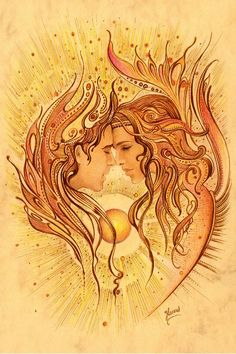 One beautiful shining Life... the Divine Masculine Feminine God/Goddess Self... their center core as One... radiating the deep beauty of Heaven on Earth. The radiant light of Divine Love shines brightly for Eternity. We always have the choice to identify with this reality, it lives breathes deeply within... this is all that truly exists, raising all to the purity of Heaven on Earth ♥♥ With Love, Jessibiah Antiera.. ♥♥ Beautiful Art by Anna Ewa Miarczynska