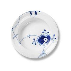 Blue Fluted Mega Soup Plate No. 6