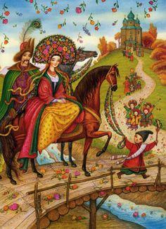 Ukrainian artist and illustrator Catherine Shtanko / Ukrainian Fairy Tales. Book illustration. Children's book