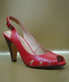 Take a look at this Red Maya Slingback by Chelsea Crew on #zulily today! $39.99, regular 69.00. Sale ends in 2 days, 7 hours. In otherwords, sale ends on Saturday, June 8th in the evening.
