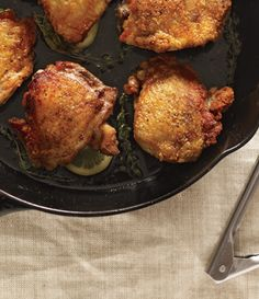 Perfect Pan-Roasted Chicken Thighs & more chicken thigh recipes from Bon Appetit Pan Roasted Chicken Thighs, Chicken Thigh Recipes, Bon Appetit, Great Recipes, Favorite Recipes, Popular Recipes, Yummy Recipes, Healthy Recipes, Main Dishes
