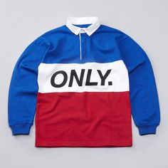 Flatspot - Only NY Logo Rugby Shirt Royal / Red