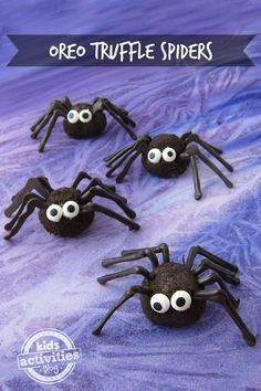 Awesome Halloween Snack Ideas Oreo Truffle Spiders