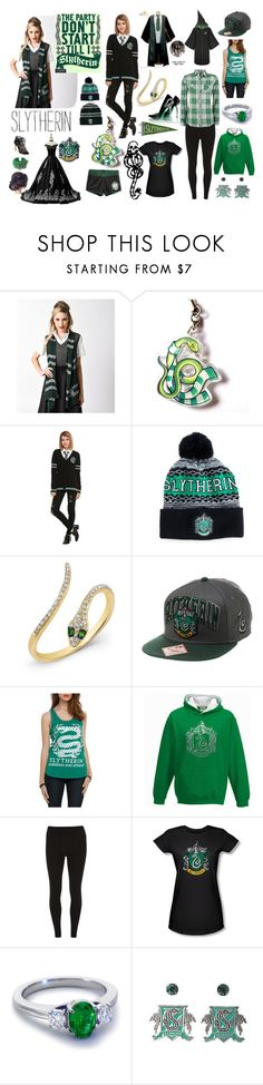 """""""Slytherin Pride"""" by madmaggie20 on Polyvore featuring moda, Warner Bros., Anne Sisteron, mark., Dorothy Perkins e Blue Nile"""