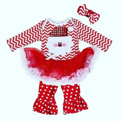 Santa Claus Tutu Boutique Outfit ( 0-24 months)- $ 35.00  www. honeybeebowcompany.com  This 3 piece baby boutique set is PERFECT for celebrating Christmas in style! Your little precious bundle of joy will look fabulous!