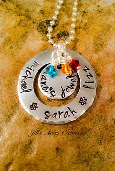 Grandma Necklace Nana's Jewels Necklace Mom by JillsArtsyCreations