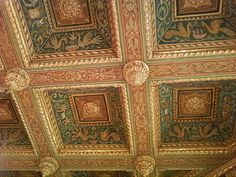 Master bedroom ceiling in San Simeon, California by Julia Morgan, architect.