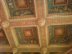 Master bedroom ceiling in San Simeon, California by Julia Morgan, architect.