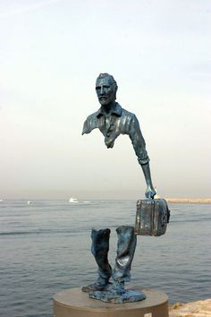 """Le Grand Van Gogh"" ~ by French sculptor Bruno Catalano at the waterfront in Marseille, France:"