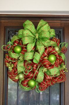 mesh wreaths | Christmas Deco Mesh Wreath by Ms. Ann