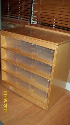 Lego Storage - reuse old dresser? @Amy Lyons Lyons Lyons Lyons schneider. DIY home organization ideas. Store kids toys in bins.