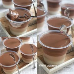 60 New Ideas for chocolate pudding cake cups Jelly Desserts, Cocktail Desserts, Pudding Desserts, Pudding Cake, Pudding Recipes, Silky Pudding, Chocolate Pudding Cups, Chocolate Desserts, Cake Chocolate