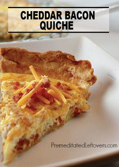 Make a dish anyone can enjoy at any time of the day with this Cheddar Bacon Quiche recipe!