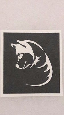 12 x Husky / Akita / Samoyed dog face stencils for etching on glass present gift