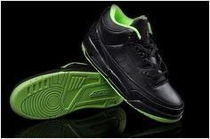 http://www.asneakers4u.com/ Nike Air Jordan III Men Shoes in Black and Green