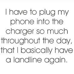 Truth...jokes but still true. #Landline #HotBling #CellphoneTroubles _________  @Regrann from @jandjentgroupjt -   #imstillteamapple #Regrann