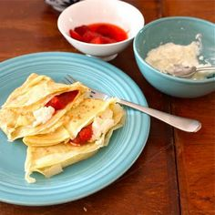 Must try: Weigh Crepes with homemade ricotta and rhubarb compote.