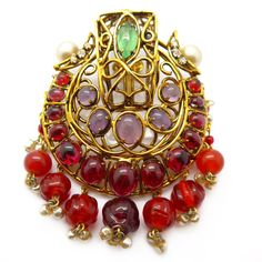 Vintage Iradj Moini For Oscar De La Renta Drop Brooch | Clarice Jewellery | Vintage Costume Jewellery