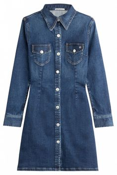 You Can Shop Alexa Chung's AG Collection BEFORE It Hits the U.S. via @WhoWhatWear Denim shirt Dress
