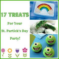 Yummy Treats For Your St. Patty's Day Party! #stpatricksday #stpattysdayparty