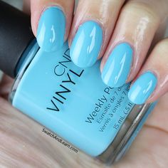 Nails, get acquainted with CND Vinylux Aqua-intance from the Flirtation Collection! (See info and swatches of the entire collection on SwatchAndLearn.com today.)
