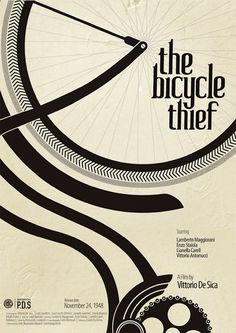 the bicycle thief, poster by Kshitij Tembe, Mumbai, India. this is cool.