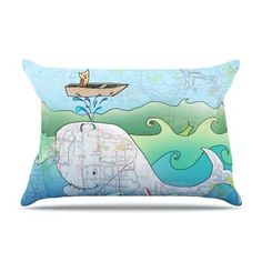"Catherine Holcombe ""I'm on a Boat"" Pillow Case"