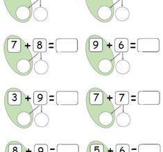 Adding 2 digit numbers using number bonds to 10 Kids Math Worksheets, Maths Puzzles, Math Activities, First Grade Classroom, 1st Grade Math, Math Addition, Addition And Subtraction, Tools For Teaching, Teaching Math