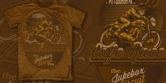 """Cafe Racer"" t-shirt design by Design by Disorder"